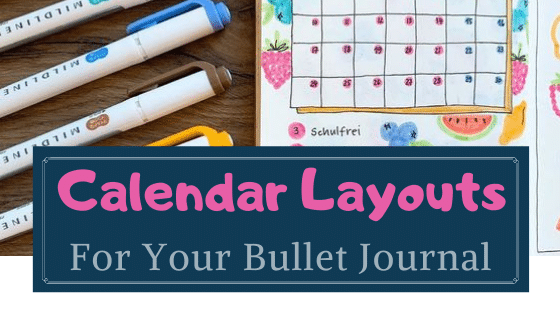 calendar layouts for bullet journal