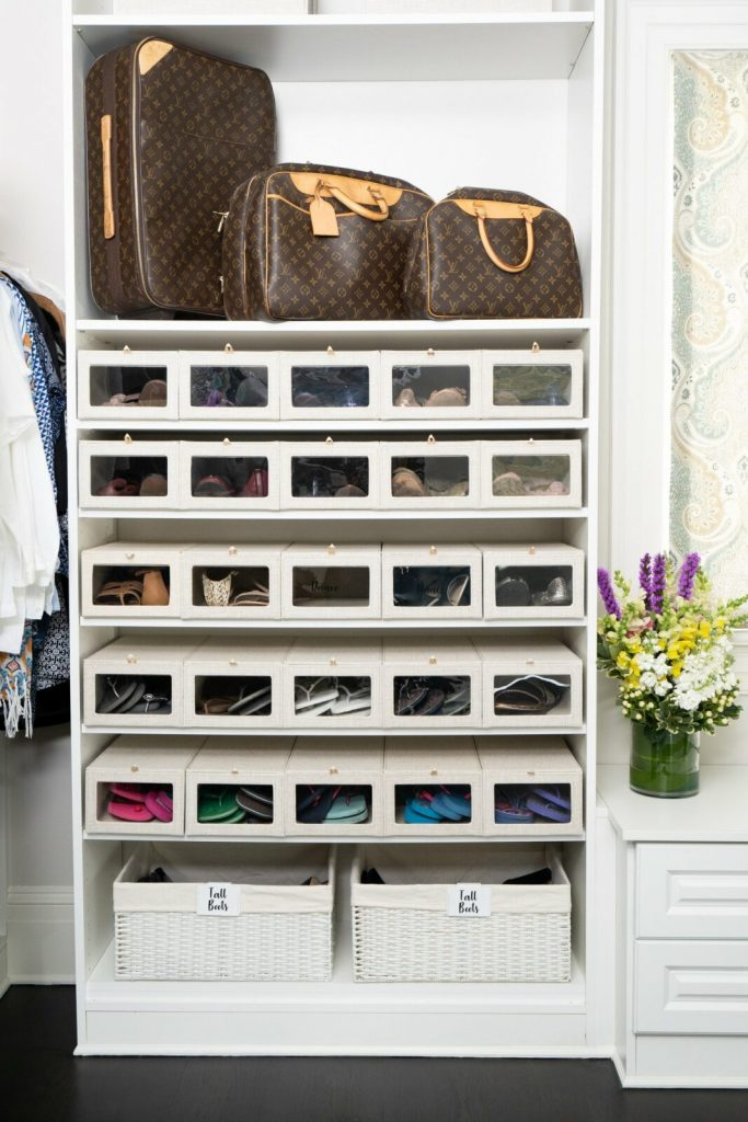 how to store shoes in the closet - Get uniform containers
