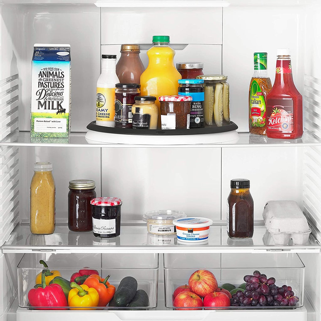 How to organize fridge- use a Lazy Susan