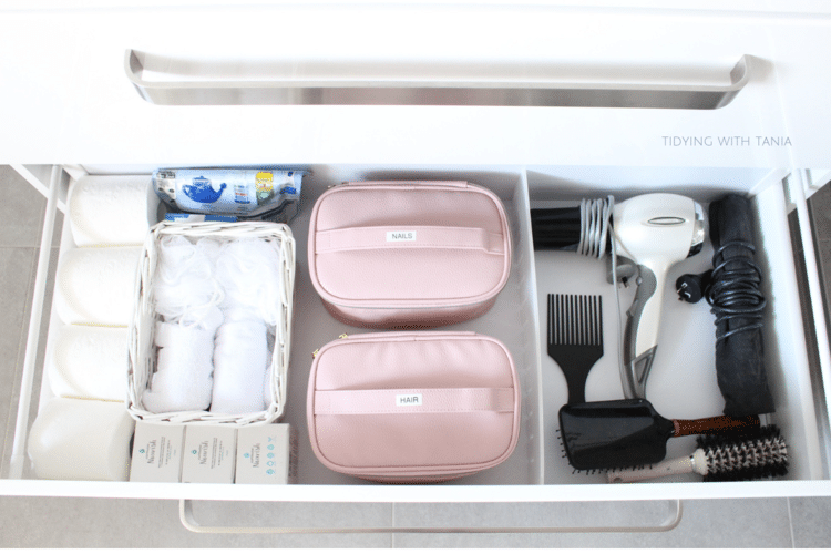 organizers for bathroom drawers - use pouches