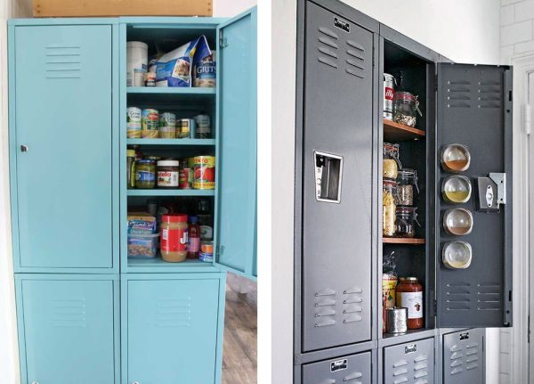 how to organize the pantry - repurpose a locker