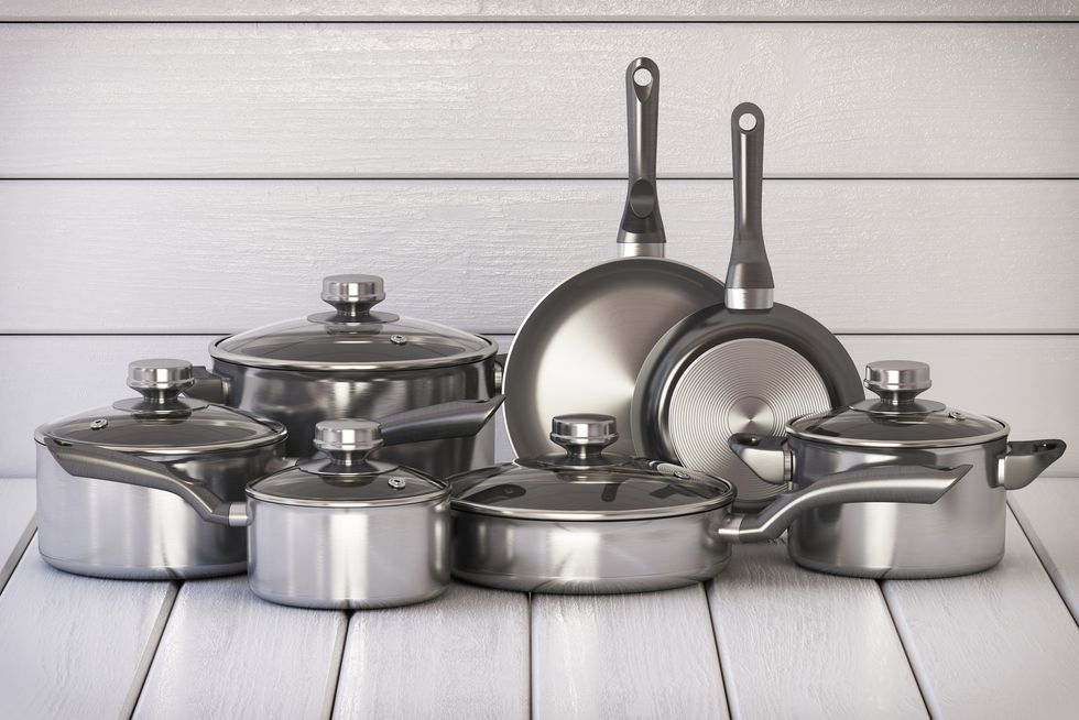 how to declutter the kitchen - Downsize your cookware