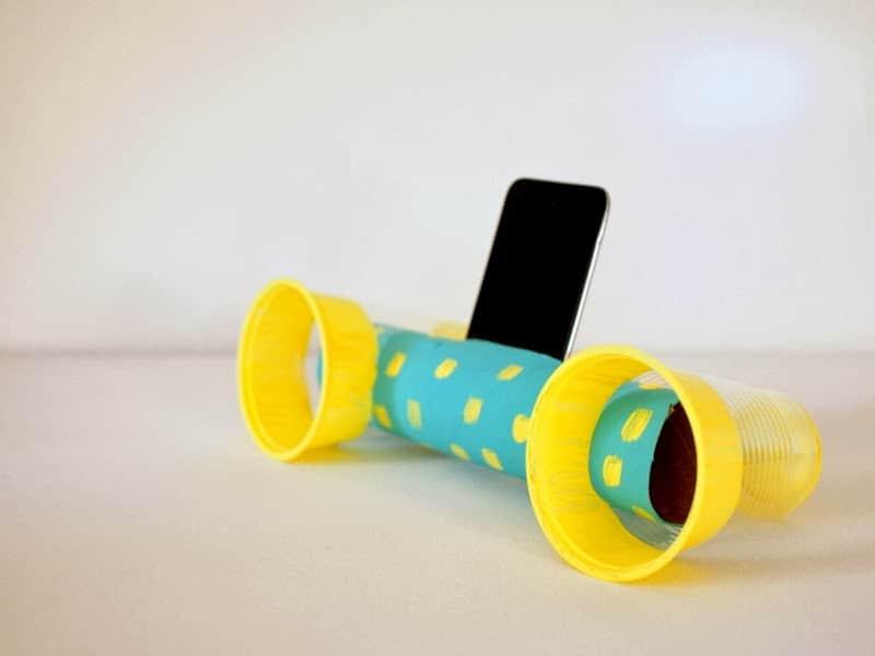 paper towel roll crafts - Smartphone speakers
