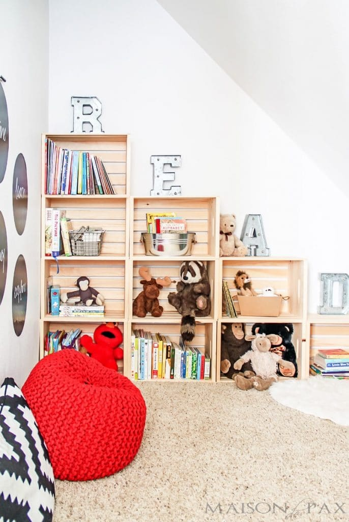 Use stack crates for additional shelving