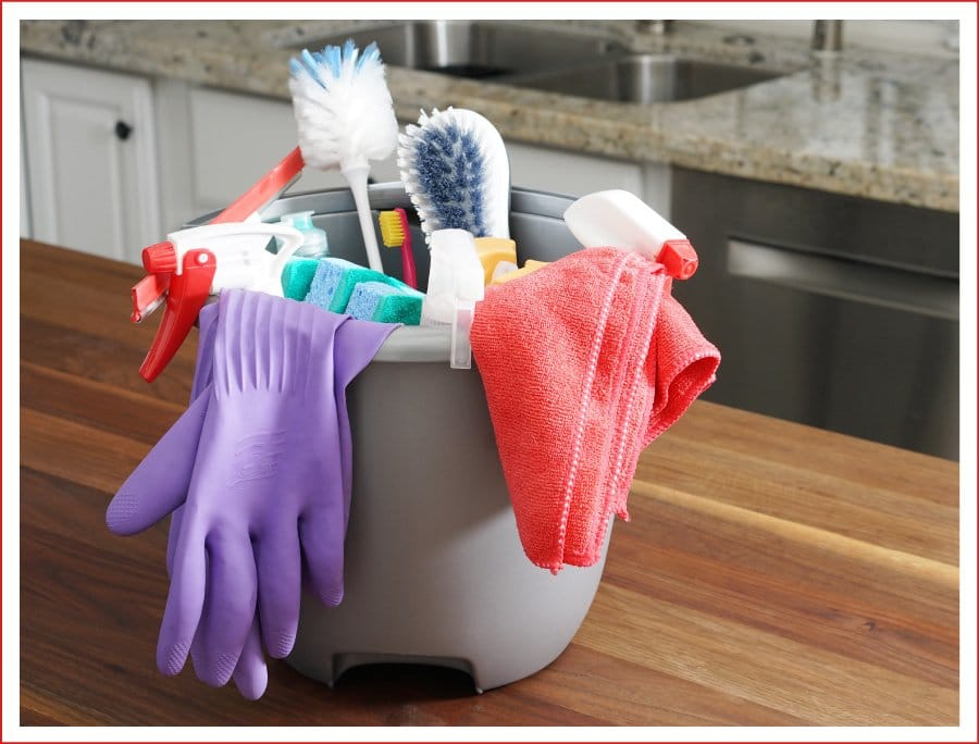 how to organize the kitchen - step 2 -clean the kitchen