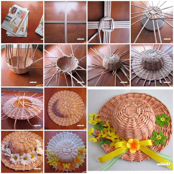 how to recycle paper - Sun hat
