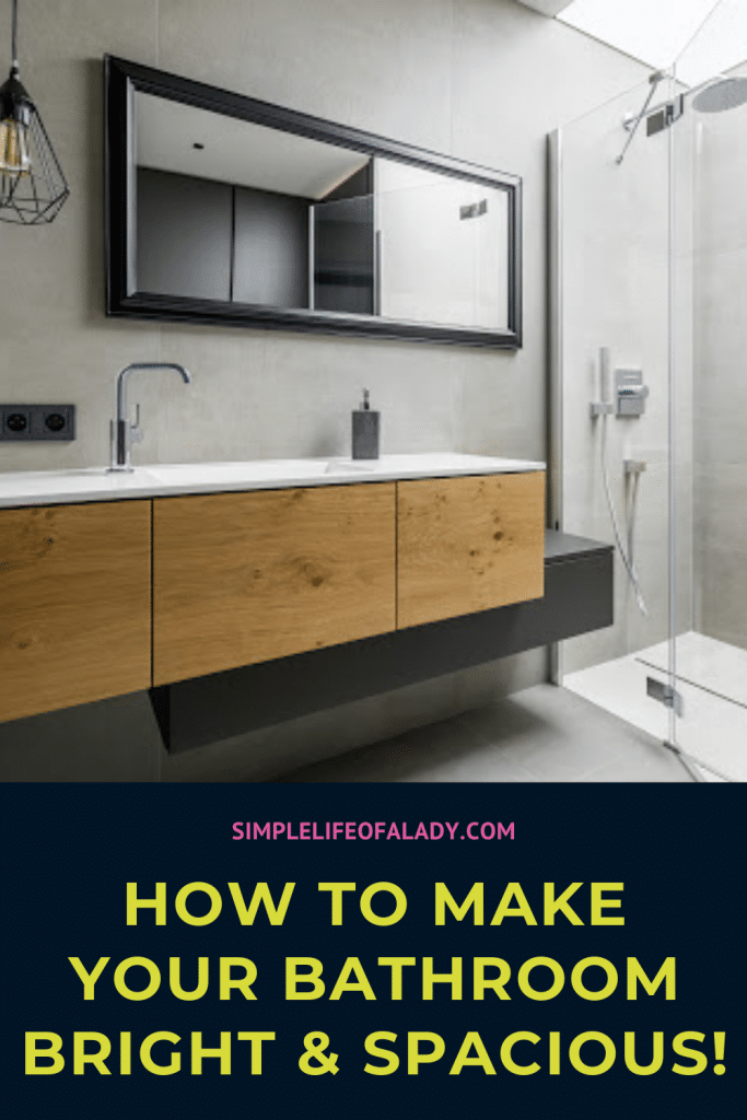 Does it look and feel too tight in your bathroom? Check out these simple tips to make it bright and spacious!