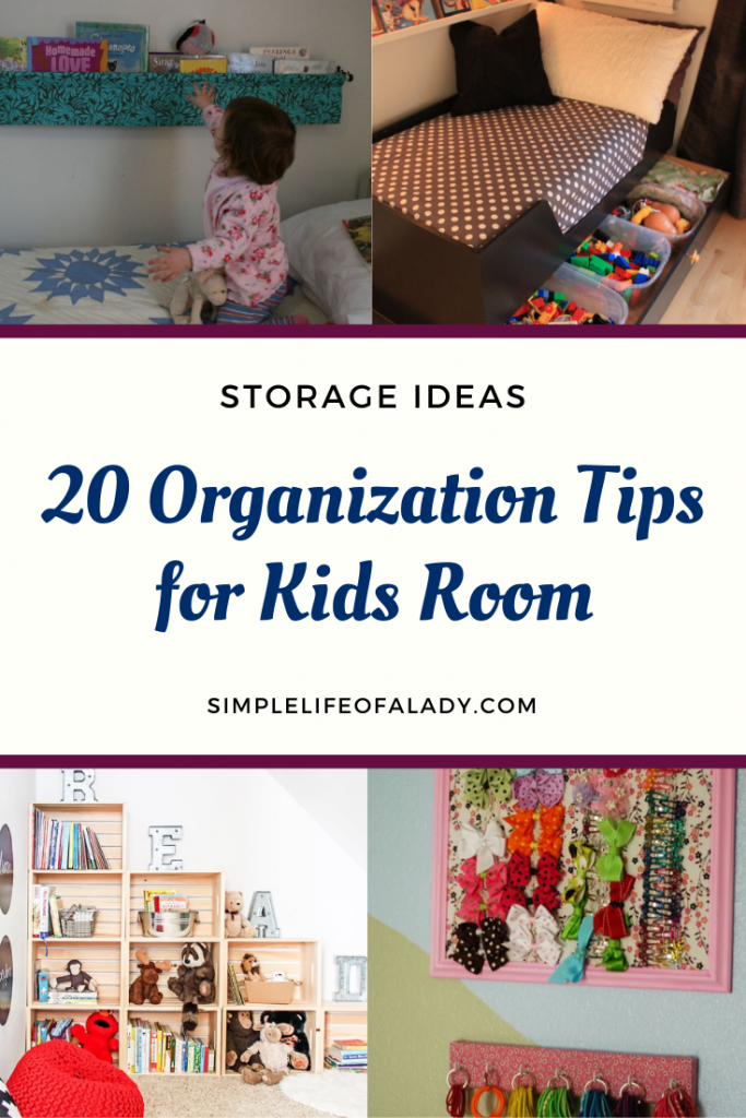 Are your kids' room always chaotic? Use these tips to organize your kids' room!