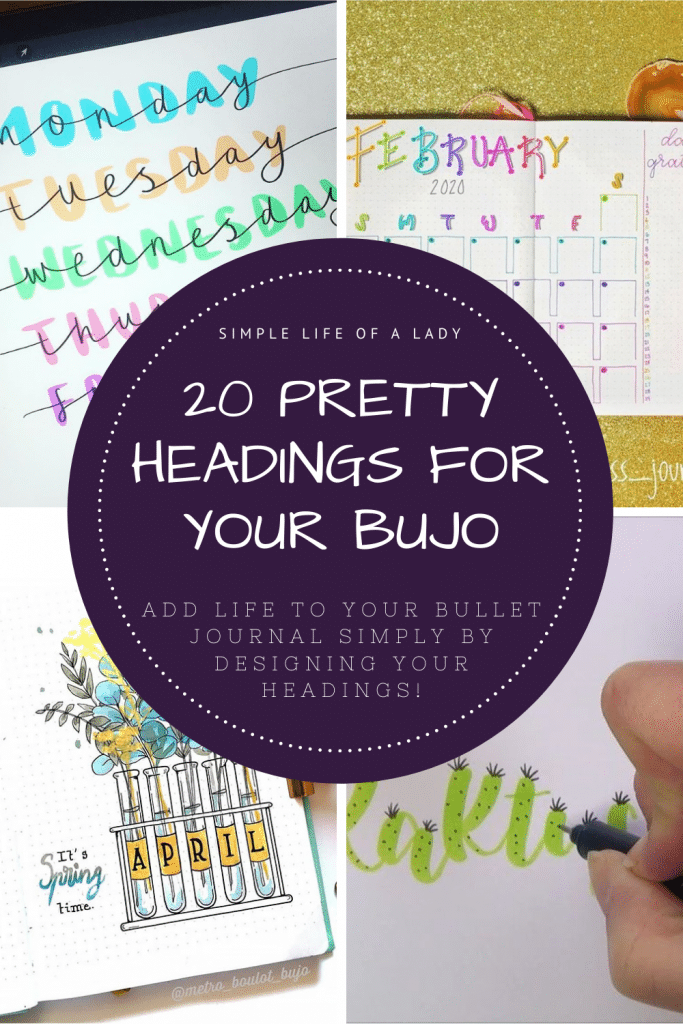Want your bullet journal headings to stand out but you're not sure how? It doesn't have to be complicated! Check out these samples!