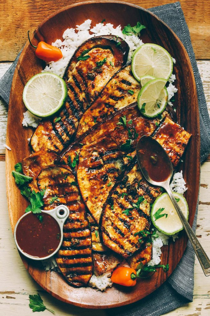4th of July recipe for dinner - Jamaican Jerk Grilled Eggplant
