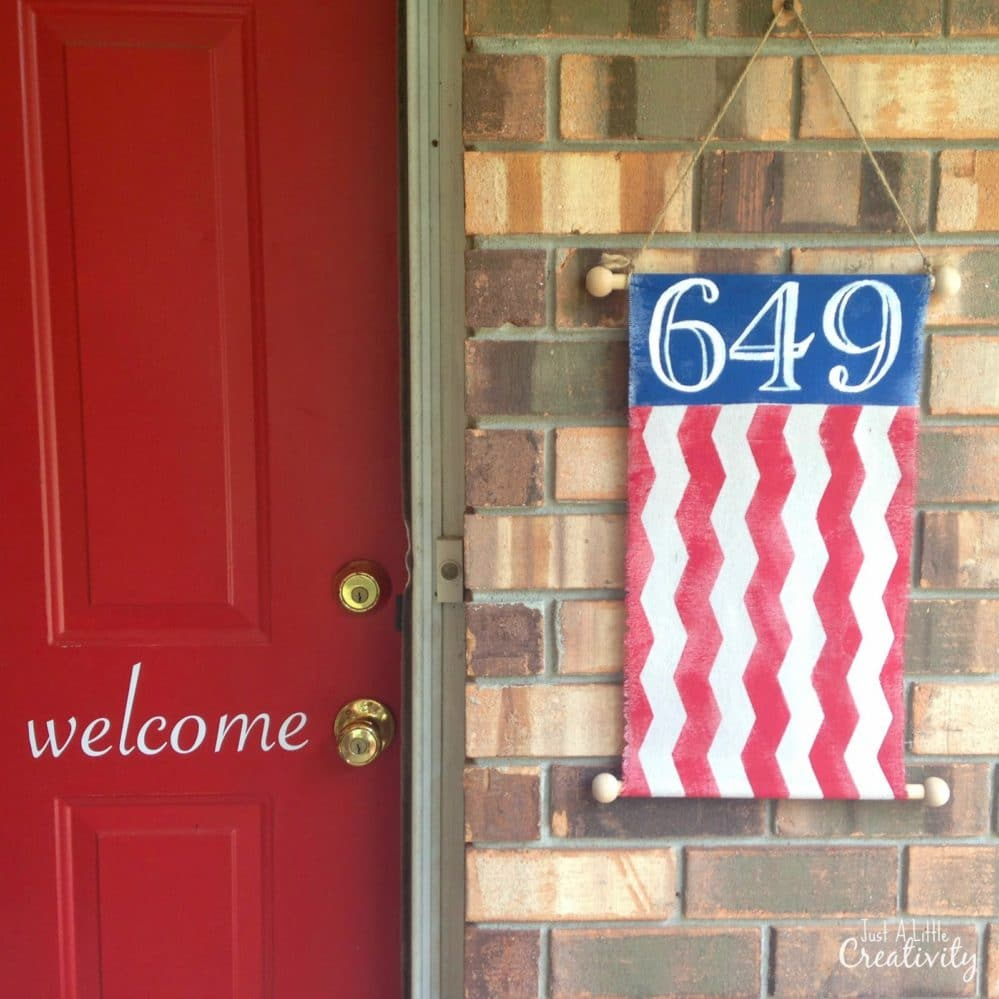 decoration for 4th of July - Patriotic street number banner