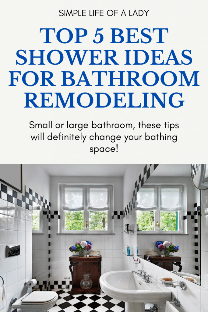 Change your bathing space with these top 5 shower ideas for bathroom remodeling!